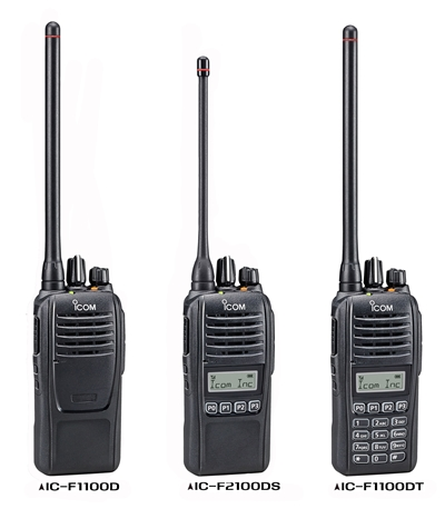 IC-F1100D/F2100D Digital Two-Way Radio (No Keyboard)